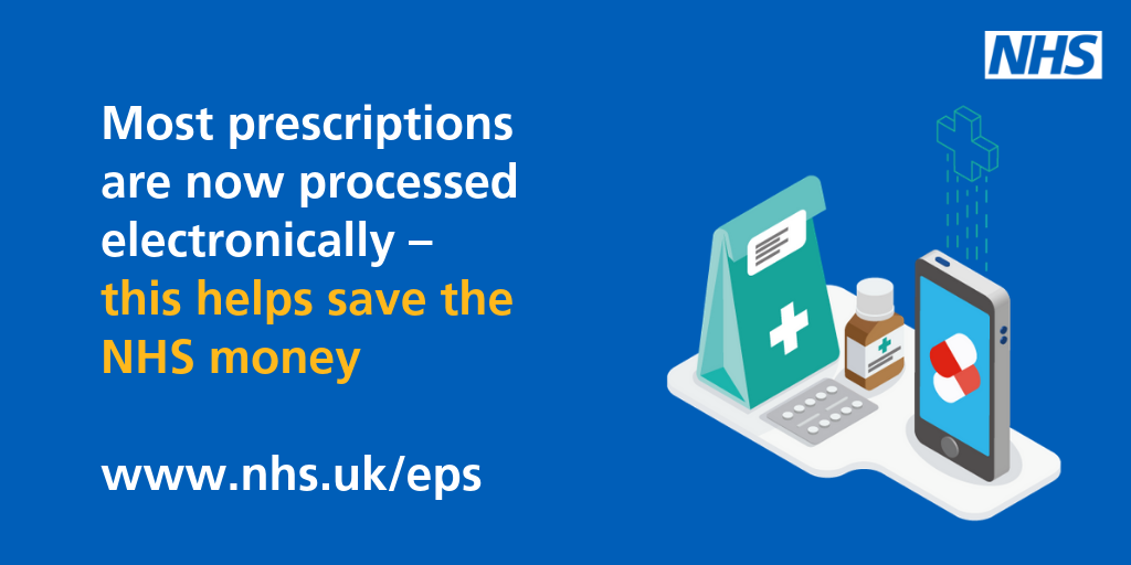 Most prescriptions are now processed electronically - this helps save the NHS money.  www.nhs.uk/eps